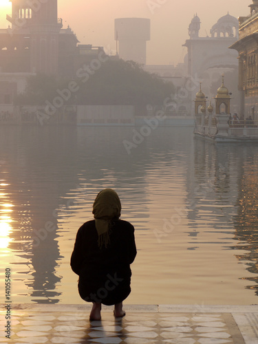 Tourist at Golden Temple, Amritsar Canvas Print