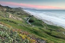 Fort Funston Coastal Sunset. Golden Gate National Recreation Area, California, USA.