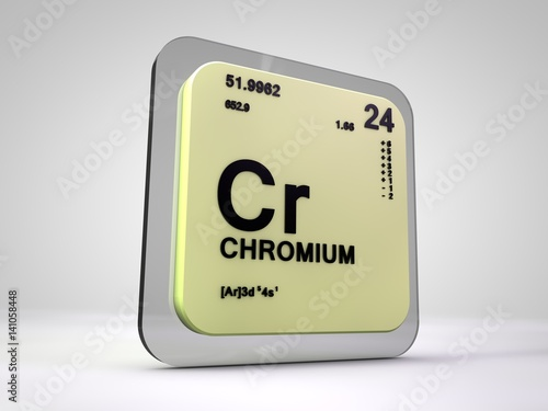Chromium Cr Chemical Element Periodic Table 3d Render Buy This