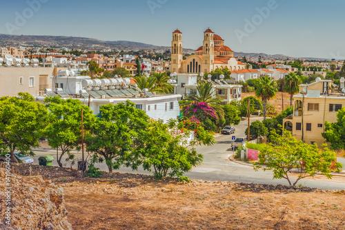 Foto op Plexiglas Cyprus Вид на город Пафос, Кипр.