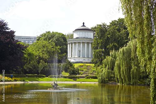Foto op Plexiglas Cyprus Saxon Garden, Ogrod Saski, public park in the city center of Warsaw, Poland, Europe