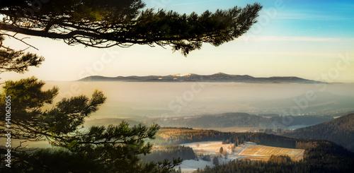 Fototapeta Karkonosze widziane ze Szczelińca Wielkiego obraz
