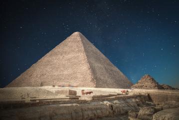 Fototapeta na wymiar  pyramids of Giza, in Egypt.