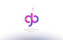 Gb G B  Pink Modern Creative Alphabet Letter Logo Icon Template