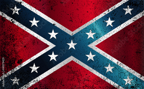 Billede på lærred Confederate Civil War Flag Grunge