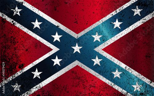 Confederate Civil War Flag Grunge Fototapet