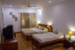 Typical room in a hotel in Bharatpur near Keoladeo Ghana National Park in India