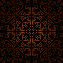 Seamless Abstract Black And Brown Pattern With Gradient. Vector Illustration