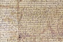 Medieval History Manuscript On Paper