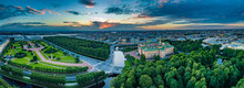 View Of The City From The Top. SPb Engineering Castle And The Champ De Mars. Summer View Of The Morning City.