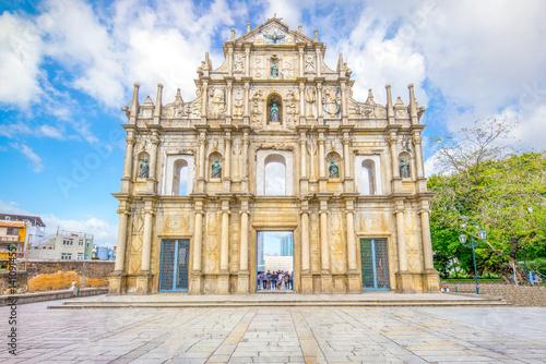 Photo  Ruins of St. Paul's in Macau, China