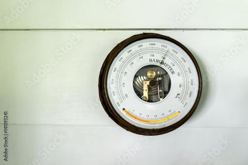 Antique vintage barometer Canvas Print