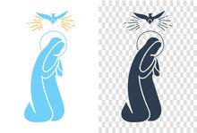 Icon  Annunciation Virgin Mary