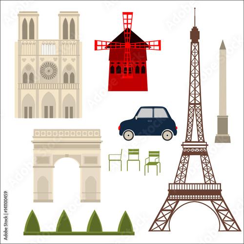 Paris illustration Canvas Print
