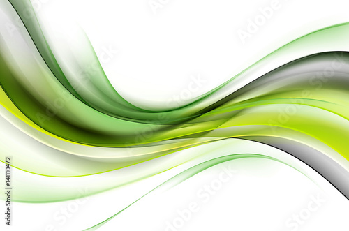 Plakaty zielone  green-luxury-waves-background-abstract-wallpaper-concept