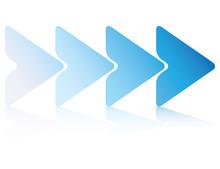 Blue Triangle Process Diagram