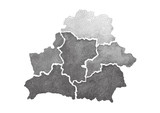 Hand drawn dotted map of Belarus. - 141116416