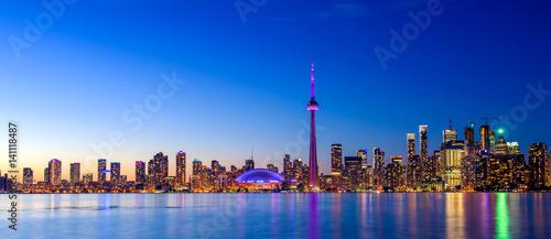 Fotografia  Toronto city skyline at night, Ontario, Toronto