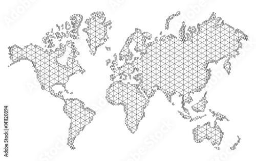 mapa-swiata-z-modnym-projektem-trojkatow