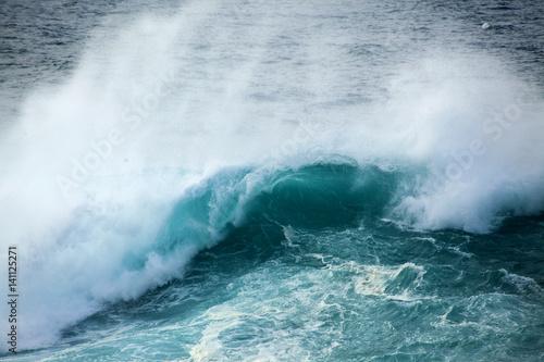 Wall Murals Ocean powerful ocean wave breaking