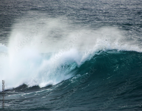 Poster Mer / Ocean powerful ocean wave breaking
