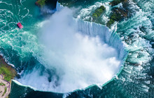 Aerial View Of Niagara Falls, ...