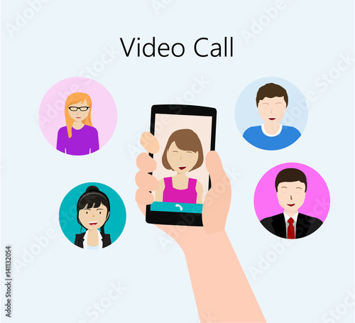 group peoples conference and chat using group video call - Buy ...