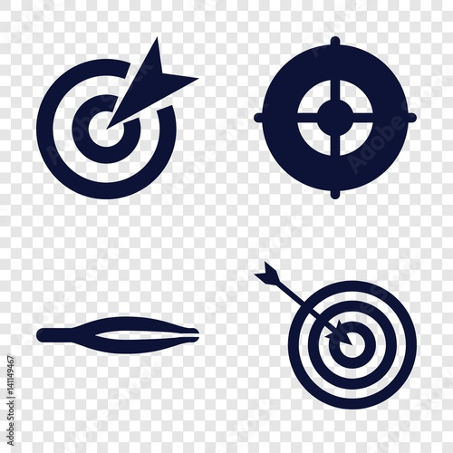 Set of 4 accuracy filled icons Canvas Print
