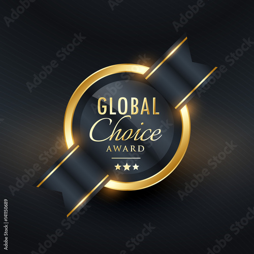 Fotografía  global choice award label and badge design