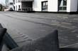canvas print picture - Flachdachabdichtung mit Bitumen (Waterproofing flat roof with bitumen)