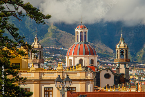 Photo sur Toile Con. Antique The town of La Orotava, Tenerife