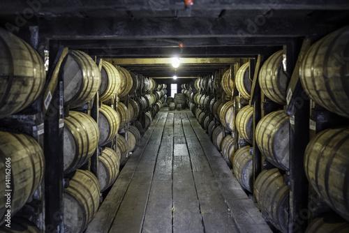Canvas bourbon barrels