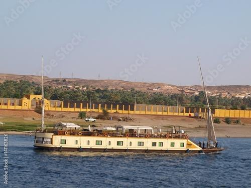 Poster London Kreuzfahrt mit dem Schiff auf dem Nil, Ägypten. Eindrücke
