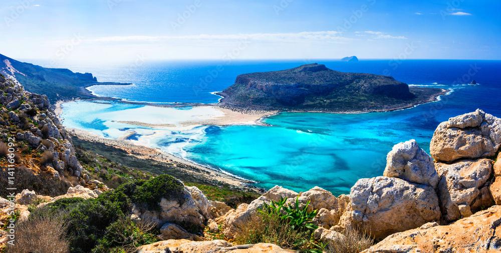 Fototapety, obrazy: amazing scenery of Greek islands - Balos bay in Crete