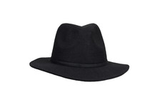Black Woolen Hat Isolated On W...
