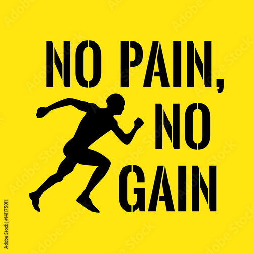 Motivational Quote Success No Pain No Gain Buy This Stock