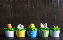 Easter Cup Cakes Served