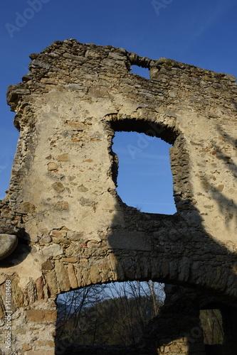 Foto op Aluminium Rudnes Ruine, Burgruine, Prandegg, Schönau im Mühlkreis, Höhenburg, Burgfried, Burgberg, Mittelalter