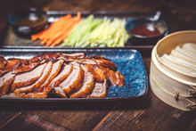 Duck In Peking, Cut With Vegetables