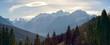 canvas print picture - Blick auf die Dolomiten mit dem letzten Sonnenlicht des Tages auf den Wolken, Pustertal, Südtirol, Italien