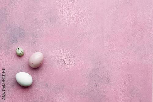 Fotobehang Macarons Template for Easter greetings