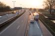Sunset over german Highway Europe