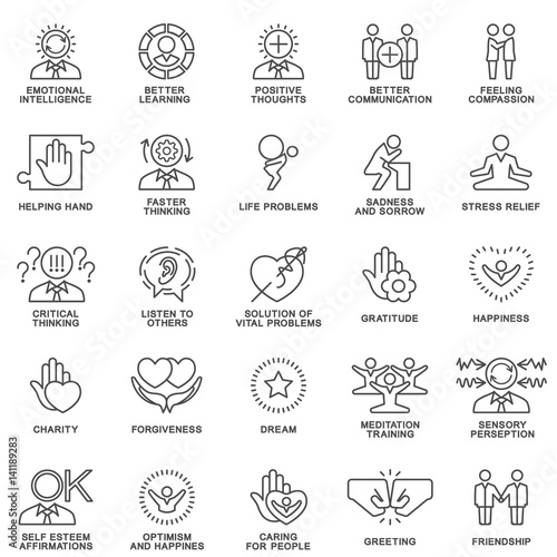 Fotografía  Icons psychological features of human personality