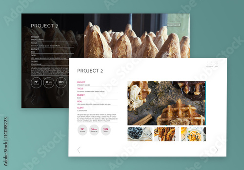 interactive block project layout buy this stock template and