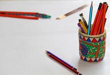 Paper Mache Pen-pencil Stand W...