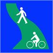 canvas print picture - Parcours piéton vélo