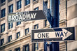 Broadway written on a roadsign, in New York City, USA