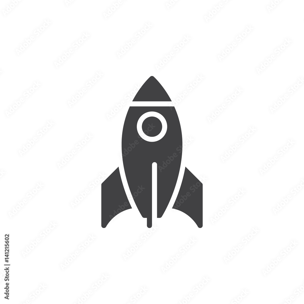 Photo  Rocket icon vector, filled flat sign, solid pictogram isolated on white