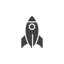 Rocket Icon Vector, Filled Fla...