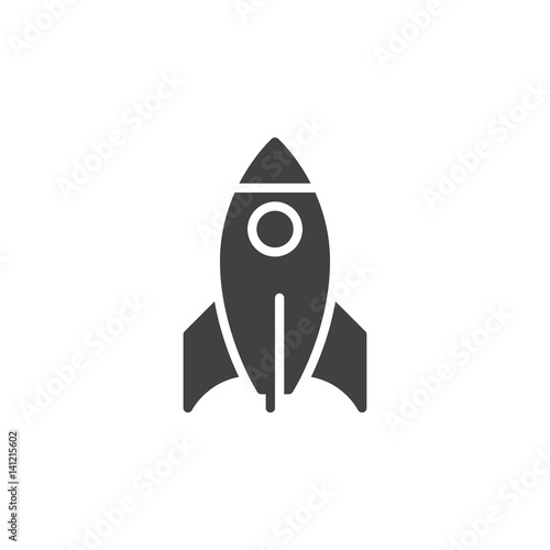 Rocket icon vector, filled flat sign, solid pictogram isolated on white Canvas-taulu